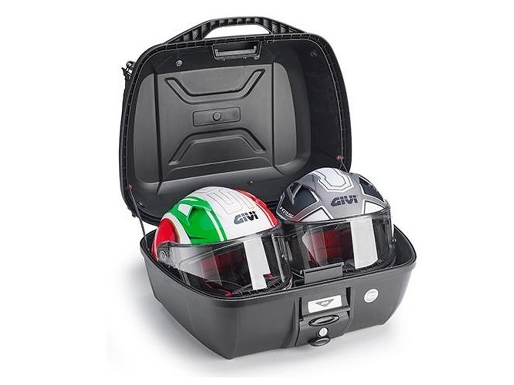 GIVI E43NMAL+ Monolock Top Case (black | incl. Universal Adapter Plate & Mounting Set)