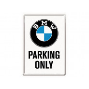 Nostalgic Arts BMW Parking Only bianco Cartolina metallica (10x14cm)