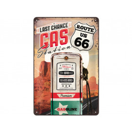 Nostalgic Arts Route 66 Gas Station Targa metallica (20x30cm)
