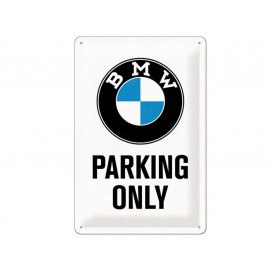 Nostalgic Arts BMW Parking Only White Targa metallica (20x30cm)