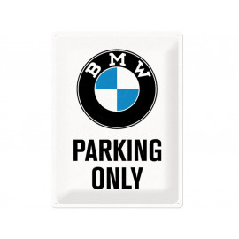 Nostalgic Arts BMW Parking Only bianco Targa metallica (30x40cm)