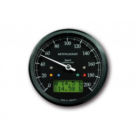 Motogadget Chronoclassic Speedometer (black) green LCD display