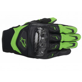 Alpinestars Guanti Moto S-MX 2 Air carbone (nero/verde)