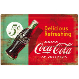 Nostalgic Arts Coca-Cola Delicious Refreshing Metal Sign (40x60cm)