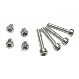 P&W Aluminium Screw Set for Conical Two (silver anodized)