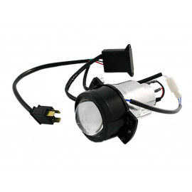 Shin Yo Motorcycle Headlight Set left-Hand Traffic (black) High and Low Beam / Parking Light