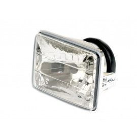 P&W H4-Headlight Insert 130 x 90mm (clear Glass) with Parking Light