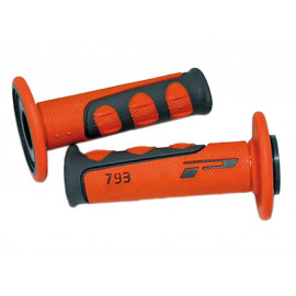 ProGrip Handlebar Grips 793 Cross (grey/orange) for 7/8 Inch Handlebars