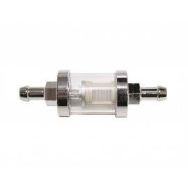 P&W Fuel Filter (Chrome/Glass) Connection width 8mm