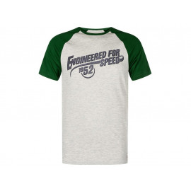 Kawasaki Engineered for Speed T-Shirt Uomo (grigio/verde)